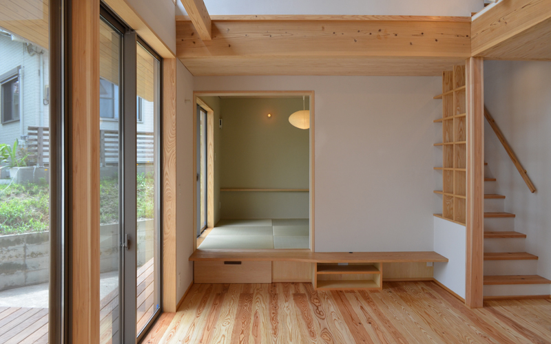 飯倉の家 リビングと和室