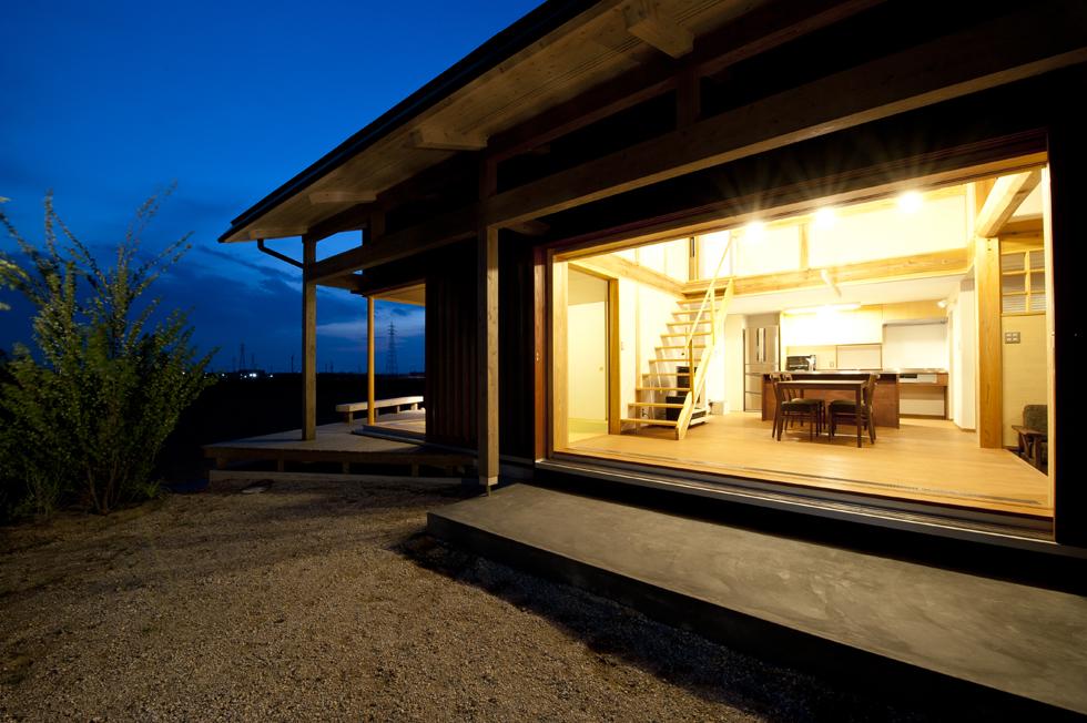 うきはの家 木製窓の大開放