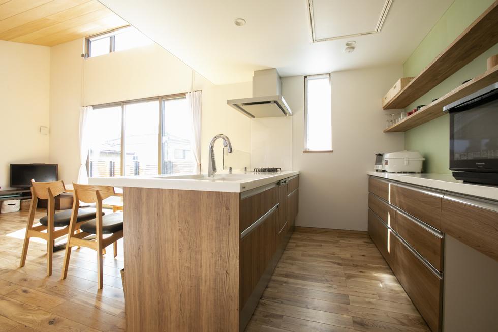 所沢の家 対面キッチン